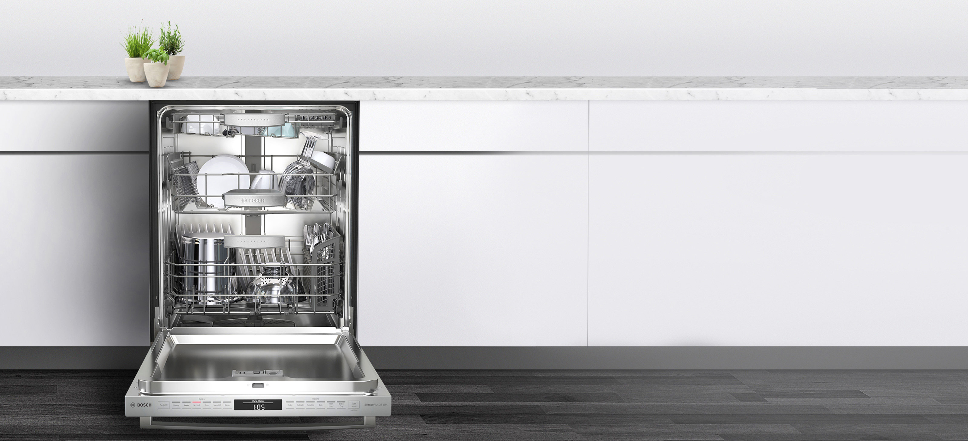The quietest dishwasher brand in the U.S.* introduces the MyWay™ rack,  featuring the industry's largest 3rd rack loading capacity.**